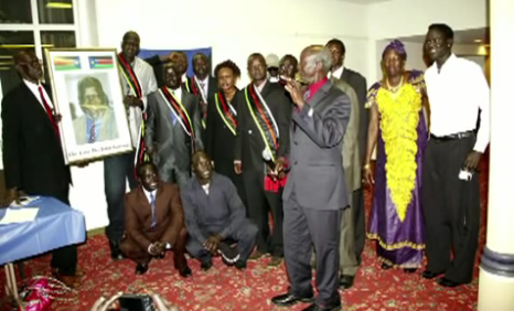 Dr. John Garang Memorial Day in Des Moines, Iowa, USA. 9/27/2014 ...