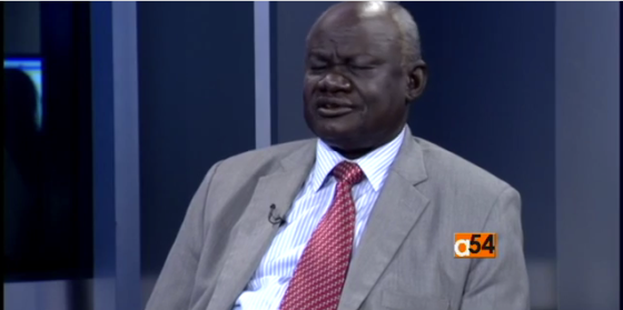 Gabriel Changson Lew Chang, the former chairman of National Committee for Finance and Resource Mobilization for SPLM/SPLA in Opposition during an interview with TV2Africa in June this year(Photo: TV2Africa)