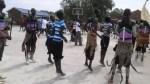 Young men & women showing Dinka cultural dances at Bor Secondary school, Feb. 26, 2011....