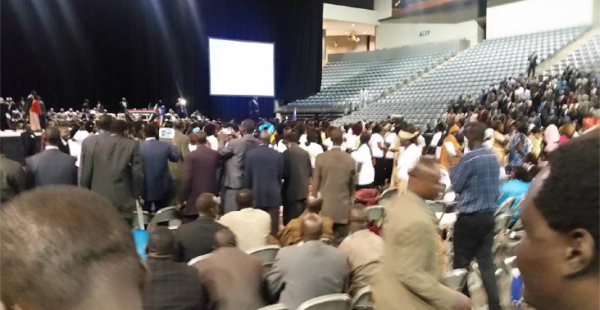 South Sudan's First Vice President Designate welcomes in Omaha, Nebraska, USA by thousands of supporters(Photo: Komach Deng Dey / Nyamilepedia)