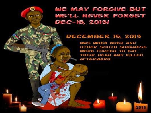 The official 2nd Anniversary logo of Dec-15th massacre; the logo expressed how acute the South Sudanese, particularly the Nuer were killed in Juba.