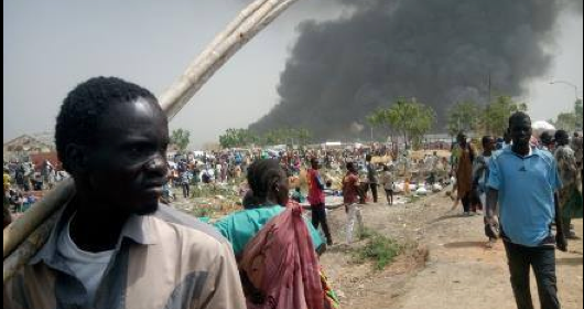 South Sudan's IDPs in Malakal following a SPLA backed violence in the ghost city(Photo: file)