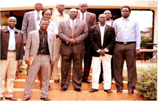 Former Minister of foreign affairs posed for a picture with a group of South Sudanese students at the Serena hotel in Nairobi back in April 2012(Photo: file)