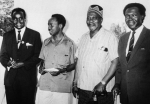 Dr. Kenneth Kaunda of North Rhodesia, Julius Nyerere of Tanzania, Jomo Kenyatta of Kenya, and Dr. Milton Obote of Uganda at the East African Heads of Government Conference, 1964(Photo: Trip Down the Memory Lane)