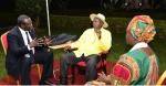 Dr. Riek Machar Teny- Dhurgon meeting Ugandan President at 10pm in Masindi District outside Kampala on January 26, 2015(Photo: Supplied/Nyamilepedia)