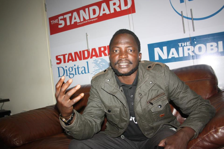 Dak Buoth speaking during an Interview with Standard Newspaper in Nairobi, 2015
