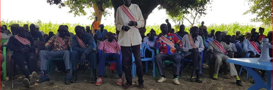 Local Chiefs of the Gaguang_Nuer community holding a conference in Maker Payam of Thorow County(Photo credit: Duol Kun Thian)