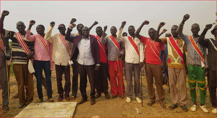 Local Chiefs of the Gaguang_Nuer community posting for a picture in Maker Payam, Thorow County on March 6, 2020(Photo credit: Duol Kun Thian)