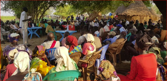 Some of the participants who participated at Gaguang-Nuer community conference in Maker Payam, Thorow County, on March 5th & 6, 2020(Photo credit: Duol Kun Thian)